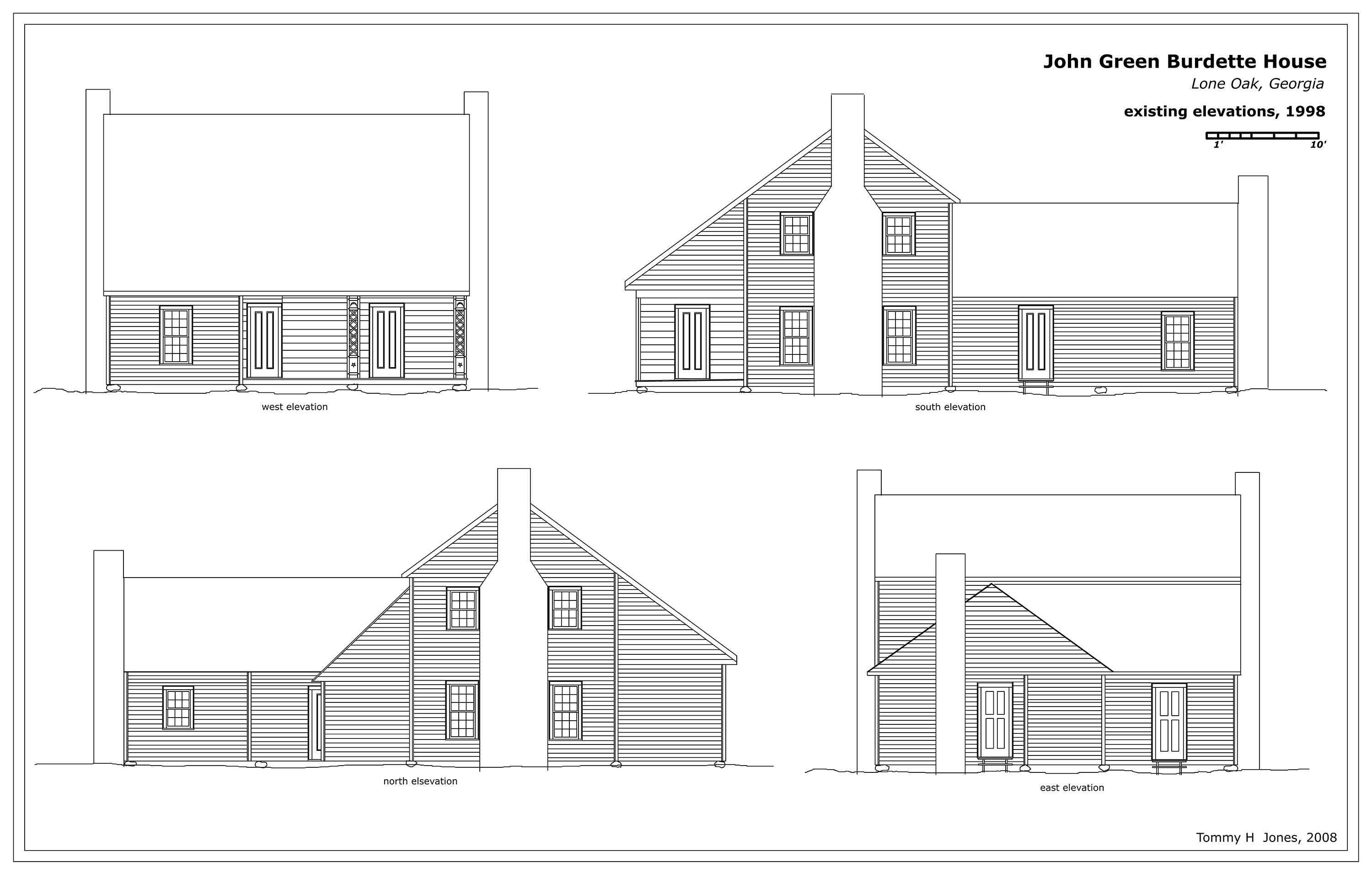 Elevation From Plan : John green burdette house