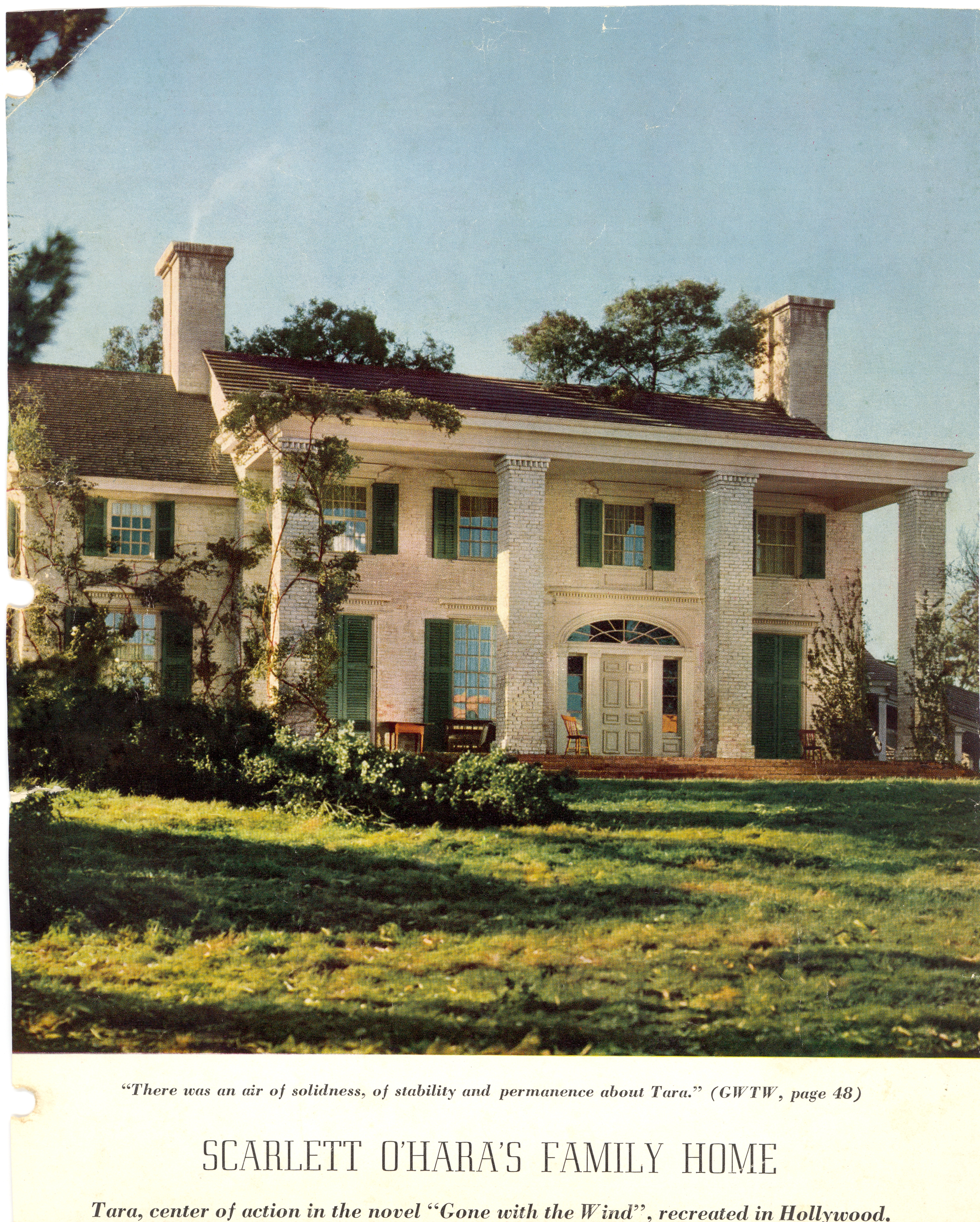 Tara gone with the wind house plans for Atlanta house plans